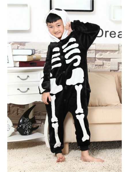 Skeleton Onesie Kigurumi Pajamas Kids Animal Costumes For Teens