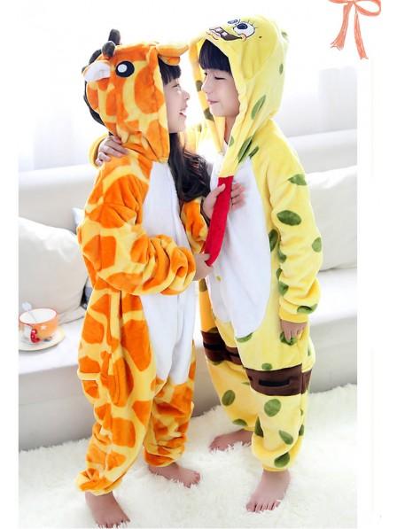 Spongebob Onesie Kigurumi Pajamas Kids Animal Costumes For Teens