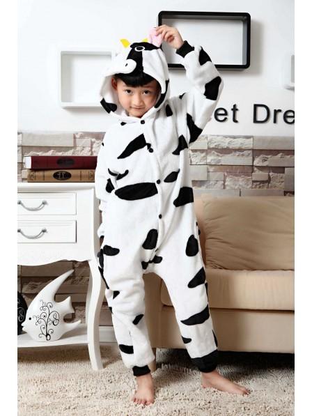Cow Onesie Kigurumi Pajamas Kids Animal Costumes For Teens