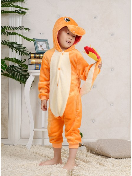 Charmander Onesie Kigurumi Pajamas Kids Animal Costumes For Teens