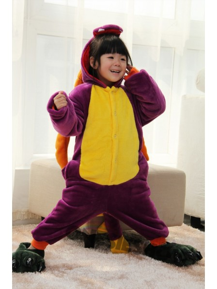 fba38b389d6f Purple Dragon Onesie Kigurumi Pajamas Kids Animal Costumes For Teens ...