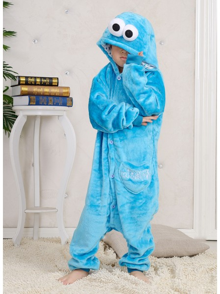 Sesame Street Cookie Monster Onesie Kigurumi Pajamas Kids Animal Costumes For Teens