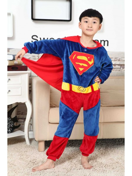 Superman Onesie Kigurumi Pajamas Kids Animal Costumes For Teens