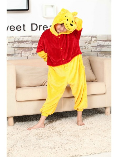 Winnie the Pooh Onesie Kigurumi Pajamas Kids Animal Costumes For Teens
