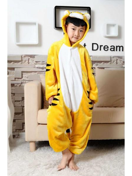 Tiger Onesie Kigurumi Pajamas Kids Animal Costumes For Teens