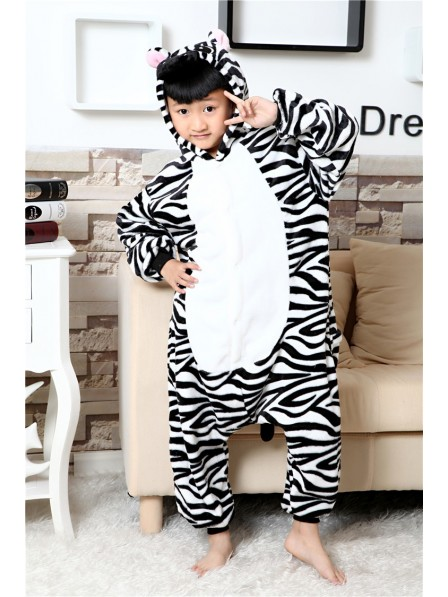Zebra Onesie Kigurumi Pajamas Kids Animal Costumes For Teens
