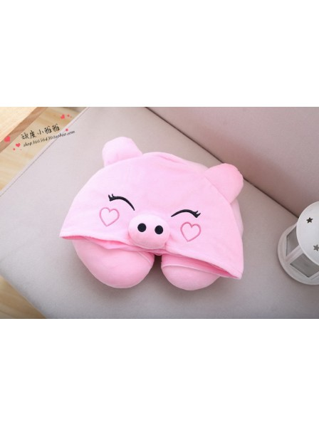 Pink Pig Neck Pillow
