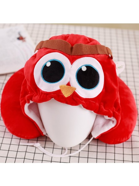 Red Owl Neck Pillow