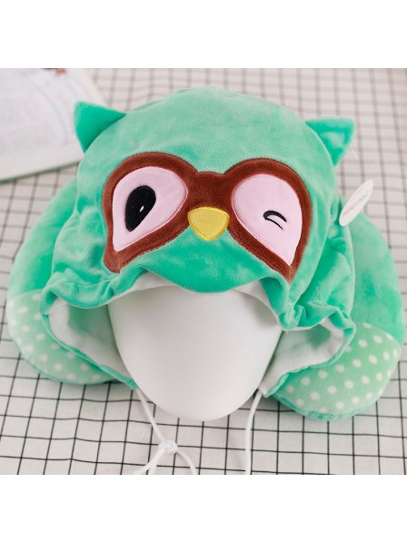 Green Owl Neck Pillow