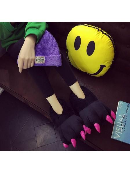 Black Unisex Plush Paw Claw House Slippers Animal Costume Shoes