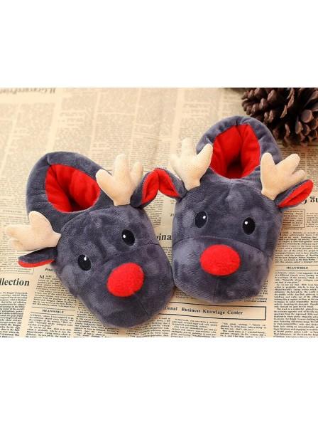 e27ee1b2b22 Adults Unisex Christmas Reindeer Design Novelty Slippers
