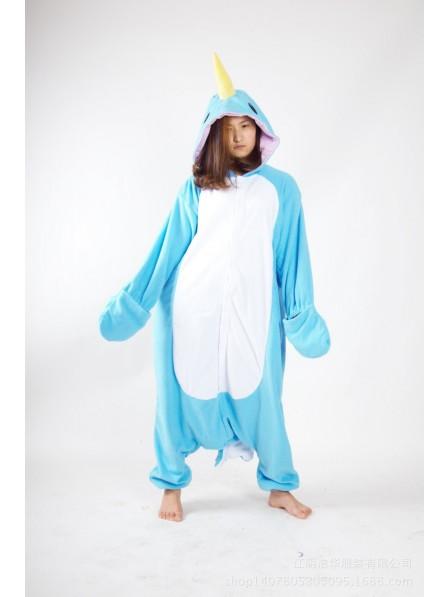 Narwhal Kigurumi Onesie Pajama Animal Unisex Costumes