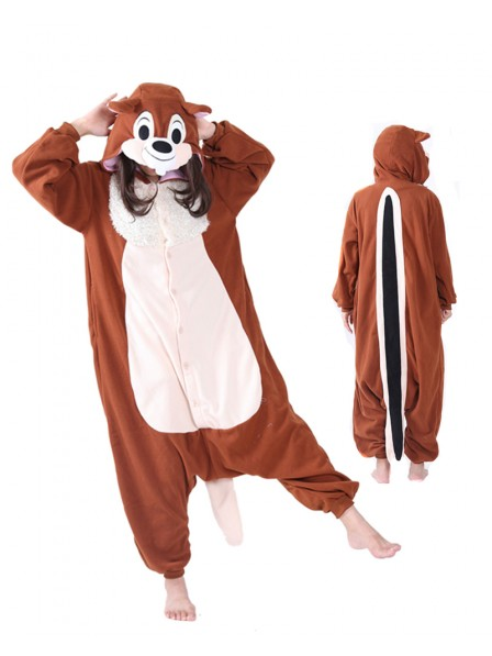 Squirrel Kigurumi Onesie Pajama Animal Unisex Costumes