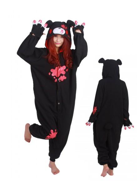 Black Gloomy Bear Kigurumi Onesie Pajama Animal Unisex Costumes
