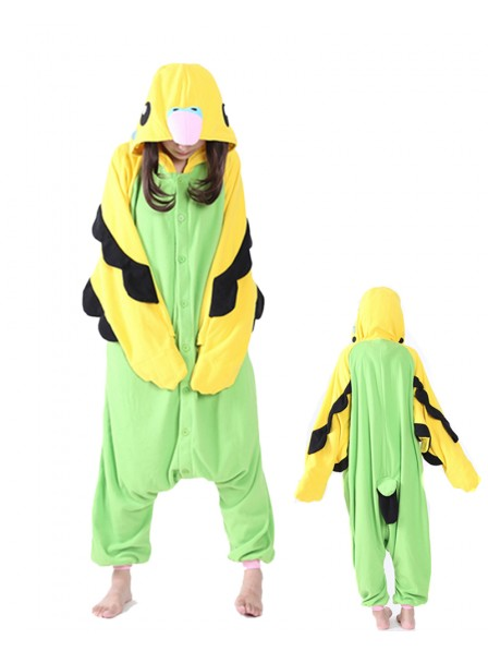 Green Parrot Kigurumi Onesie Pajamas Animal Unisex Costumes