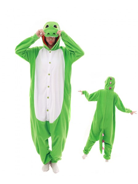 Green Dragon Kigurumi Onesie Pajamas Animal Unisex Costumes