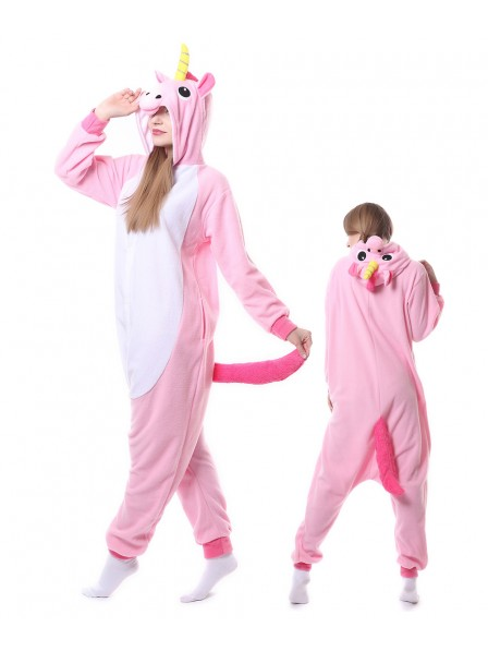 Pink Unicorn Kigurumi Onesie Pajamas Animal Unisex Costumes