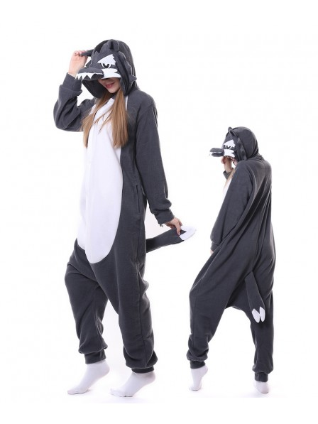 Grey Wolf Kigurumi Onesie Pajamas Animal Unisex Costumes