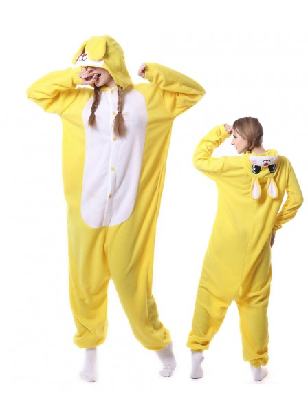 Yellow Rabbit Kigurumi Onesie Pajamas Animal Unisex Costumes