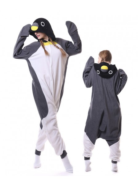 Grey Penguin Kigurumi Onesie Pajamas Animal Unisex Costumes