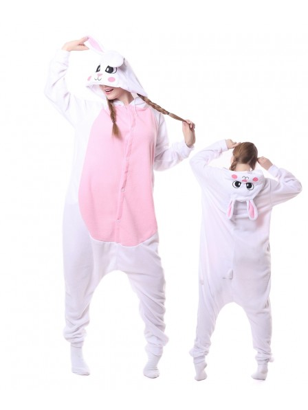 White Rabbit Kigurumi Onesie Pajamas Animal Unisex Costumes