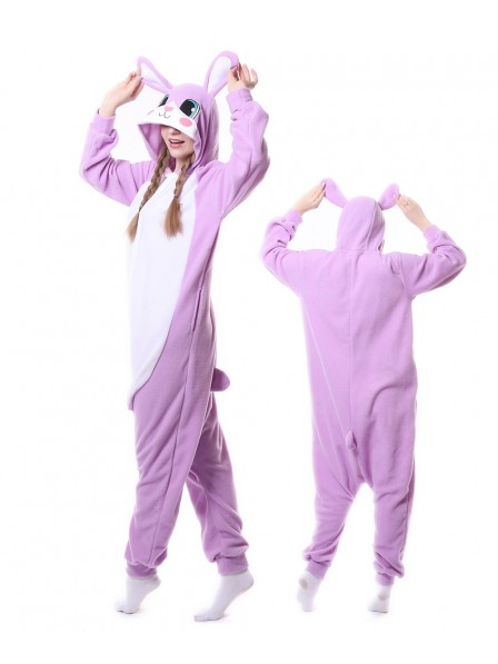 Purple Rabbit Kigurumi Onesie Pajamas Animal Unisex Costumes