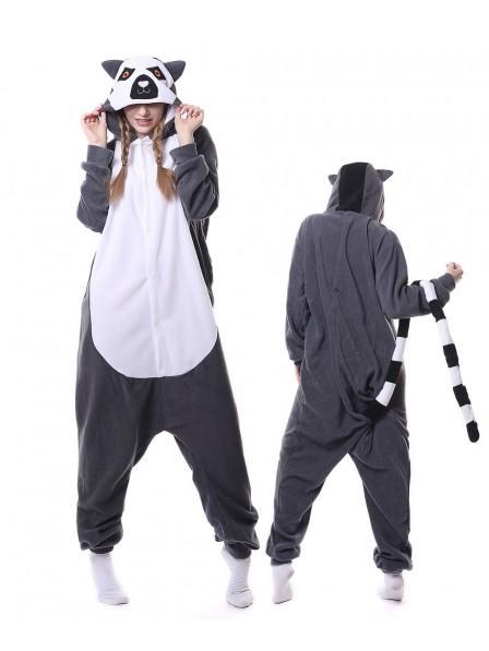 Lemur Kigurumi Onesie Pajamas Animal Unisex Costumes