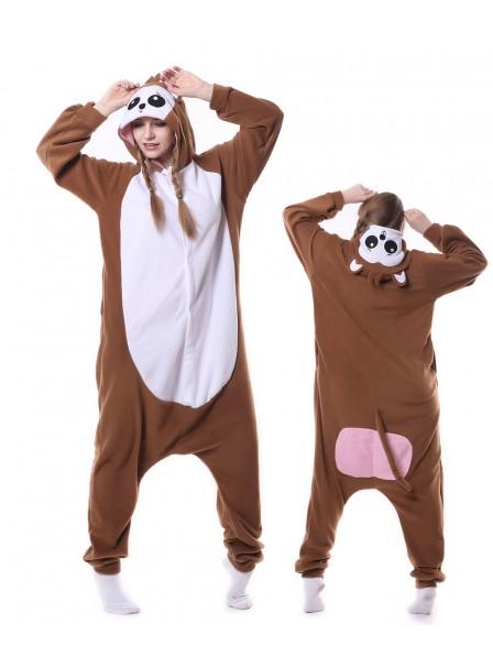 Monkey Kigurumi Onesie Pajamas Animal Unisex Costumes