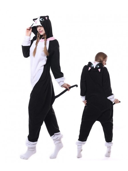 Black Cat Kigurumi Onesie Pajamas Animal Unisex Costumes