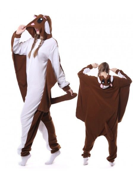 Brown Flying Squirrel Kigurumi Onesie Pajamas Animal Unisex Costumes