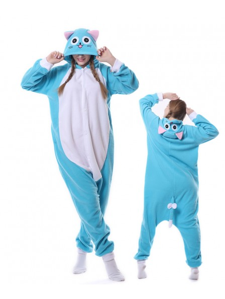Happy Cat Kigurumi Onesie Pajamas Animal Unisex Costumes