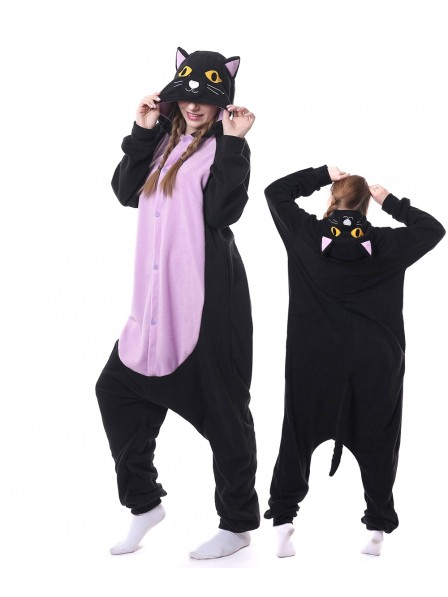 Midnight Cat Kigurumi Onesie Pajamas Animal Unisex Costumes