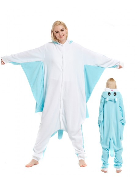 Blue Flying Squirrel Kigurumi Onesie Pajamas Animal Unisex Costumes