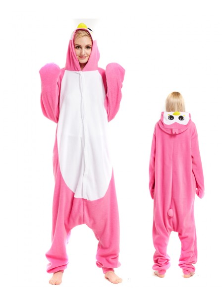 Pink Penguin Kigurumi Onesie Pajamas Animal Unisex Costumes