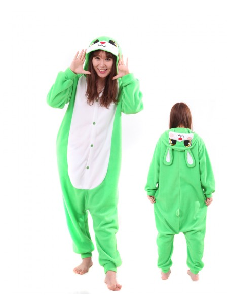 Green Bunny Kigurumi Onesie Pajamas Animal Unisex Costumes