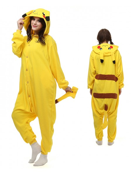 Pikachu Kigurumi Onesie Pajamas Polar Fleece Animal Unisex Costumes