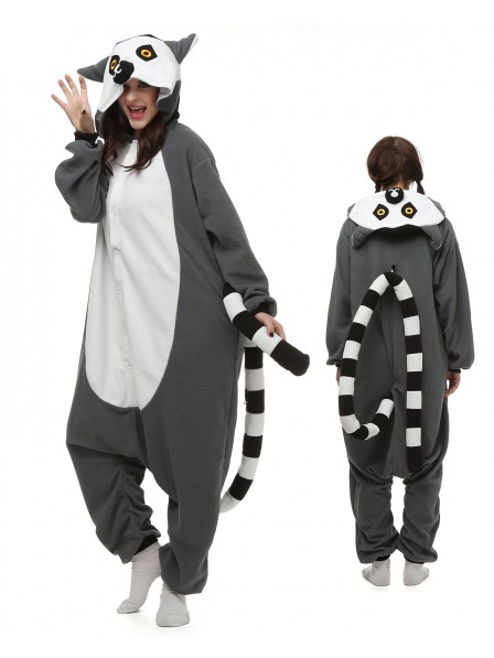 Lemur Kigurumi Onesie Pajamas Polar Fleece Animal Unisex Costumes