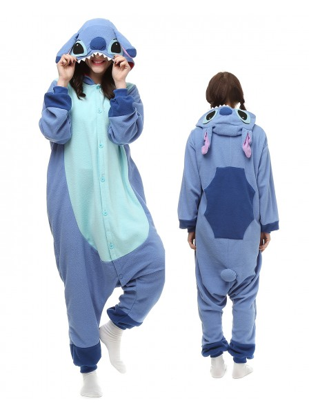 Stitch Kigurumi Onesie Pajamas Polar Fleece Animal Unisex Costumes