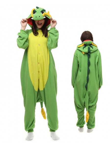 Chinese Dragon Kigurumi Onesie Pajamas Polar Fleece Animal Unisex Costumes