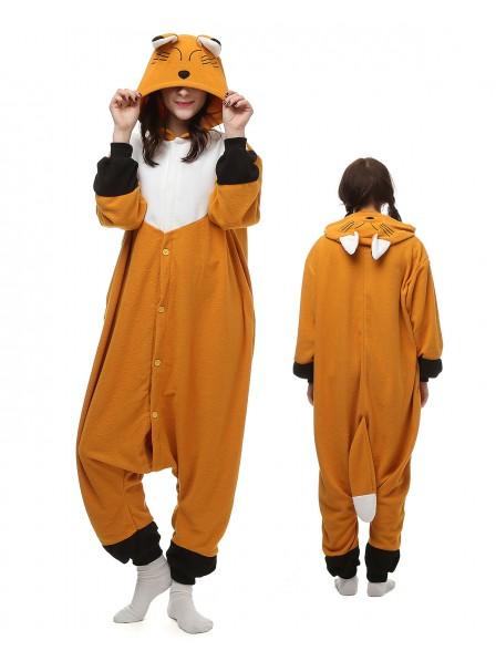 Japanese Red Fox Kigurumi Onesie Pajamas Polar Fleece Animal Unisex Costumes