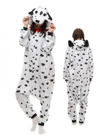Spotted Dog Kigurumi Onesie Pajamas Polar Fleece Animal Unisex Costumes