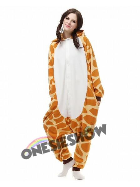 06971b1ed5 Giraffe Kigurumi Onesie Pajamas Polar Fleece Animal Unisex Costumes ...