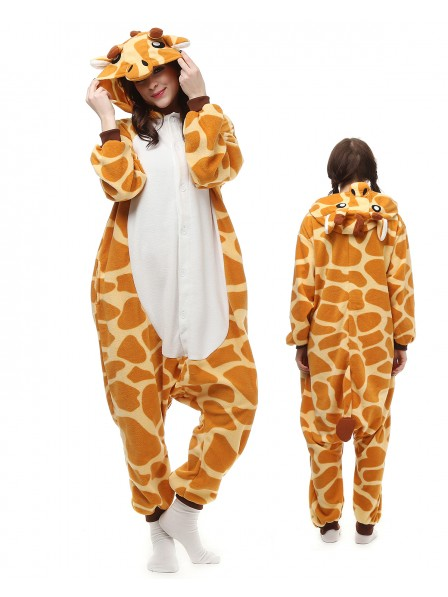 Giraffe Kigurumi Onesie Pajamas Polar Fleece Animal Unisex Costumes