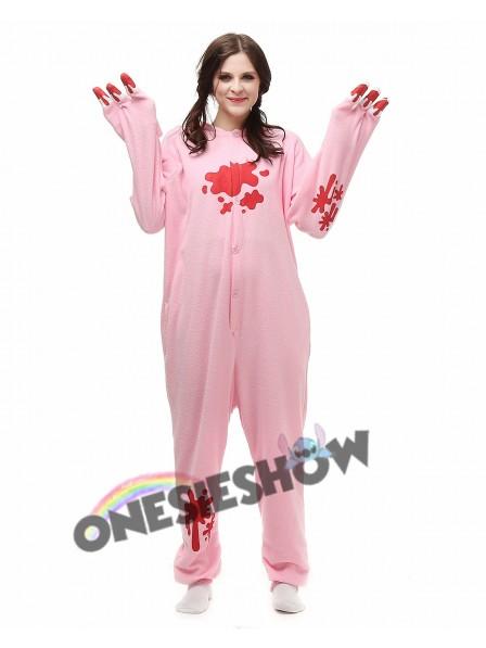 a24cca6f1 Pink Gloomy Bear Kigurumi Onesie Pajamas Polar Fleece Animal Unisex ...