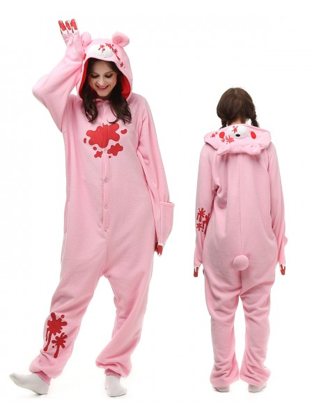 Pink Gloomy Bear Kigurumi Onesie Pajamas Polar Fleece Animal Unisex Costumes