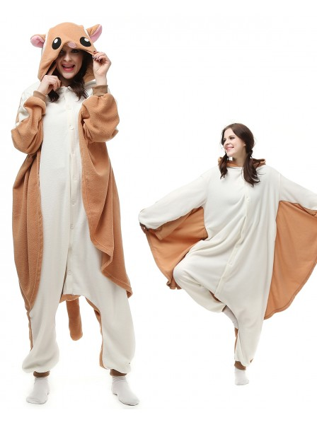 Flying Squirrel Kigurumi Onesie Pajamas Polar Fleece Animal Unisex Costumes