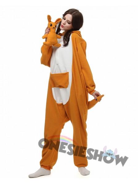 e1bc67ab1a89 Kangaroo Kigurumi Onesie Pajamas Polar Fleece Animal Unisex Costumes ...