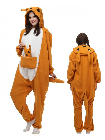 Kangaroo Kigurumi Onesie Pajamas Polar Fleece Animal Unisex Costumes