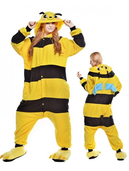 Bees Kigurumi Onesie Pajamas Polar Fleece Animal Unisex Costumes