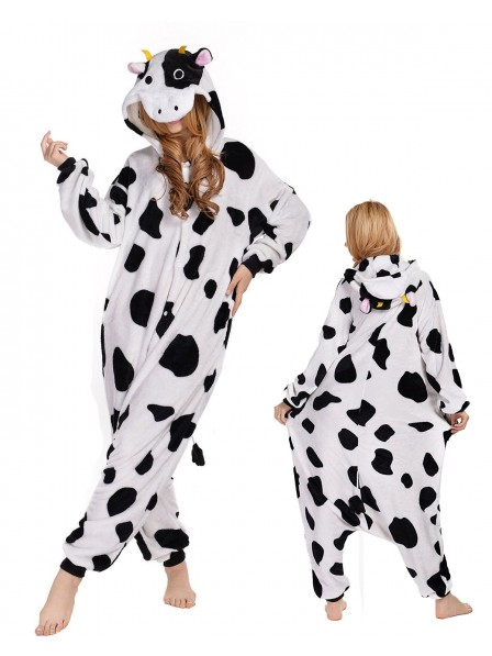 Cow Kigurumi Onesie Pajamas Polar Fleece Animal Unisex Costumes